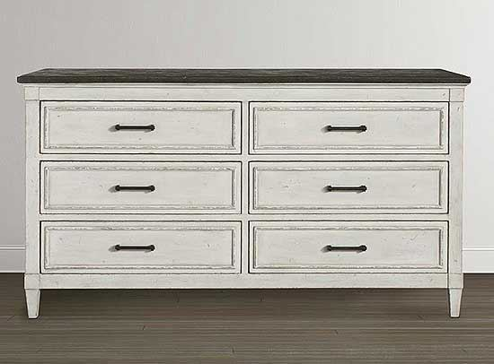 Picture of Bella 6 Drawer Stone Top Dresser