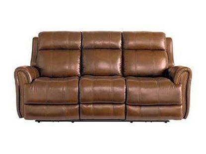 Picture of Marquee Umber Leather Power Reclining Sofa
