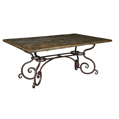 "Picture of 72"" Rectangular Dining Table w/ Metal Base (Black Forest)"