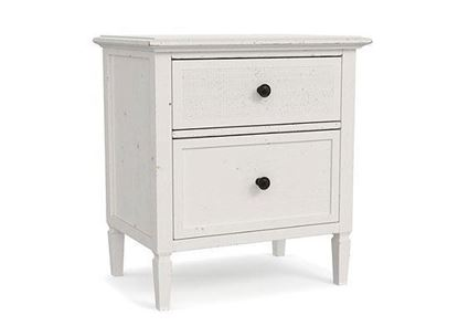 Shoreline 2-Drawer Nightstand - with White Sea Salt finish