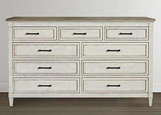 Picture of Bella 9 Drawer Wood Top Dresser