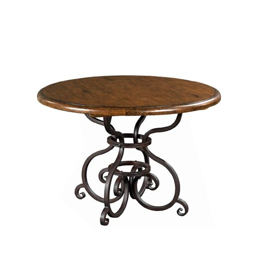 "Picture of 44"" Round Dining Table with Metal Base (Tobacco)"