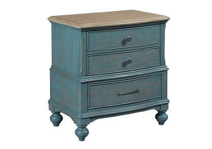 Litchfield - Moray Nightstand Blue 750-420B