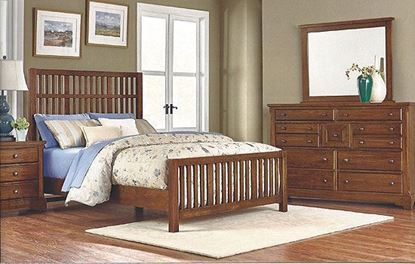 Artisan Choices- Craftsman Bedroom with Slat Bed