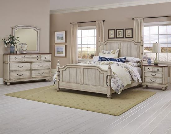 Arrendelle Bedroom Collection in an Antique White finish