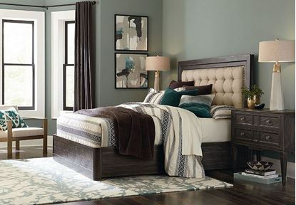 Woodridge Bedroom Collection with Upholstered Panel Bed