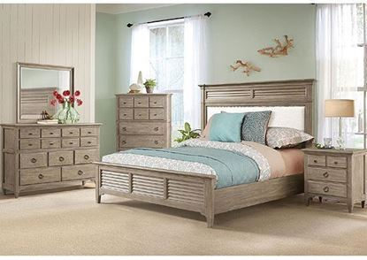 Myra Bedroom Collection with Louvre Bed by Riverside furniture
