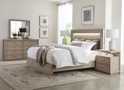 Cascade Bedroom Collection with Upholstered Panel Bed by Riverside furniture