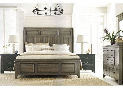 Kincaid Mill House Bedroom Collection with Folsom Bed in a Rustic Alder finish